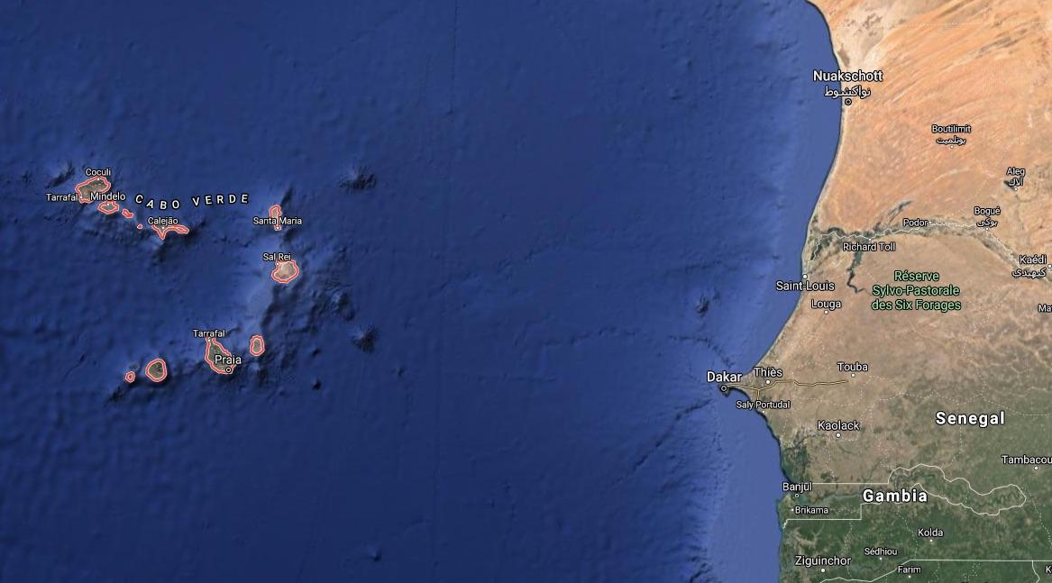 Karte Kapverde