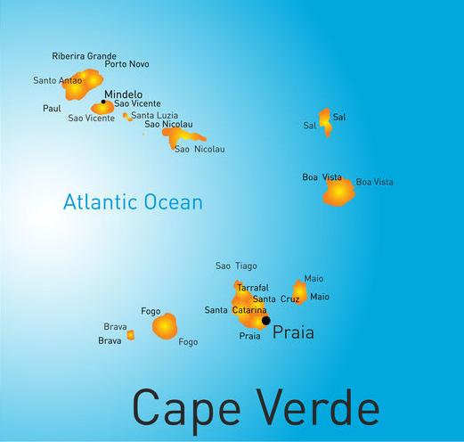 Karte Kapverden Landkarte
